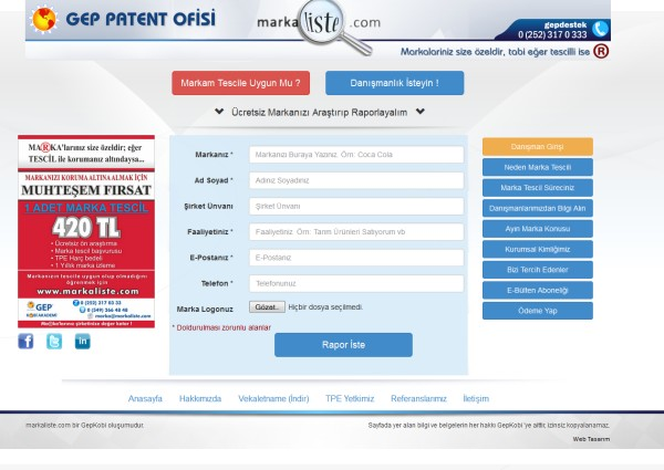 Marka Liste - Marka Patent Araştırma