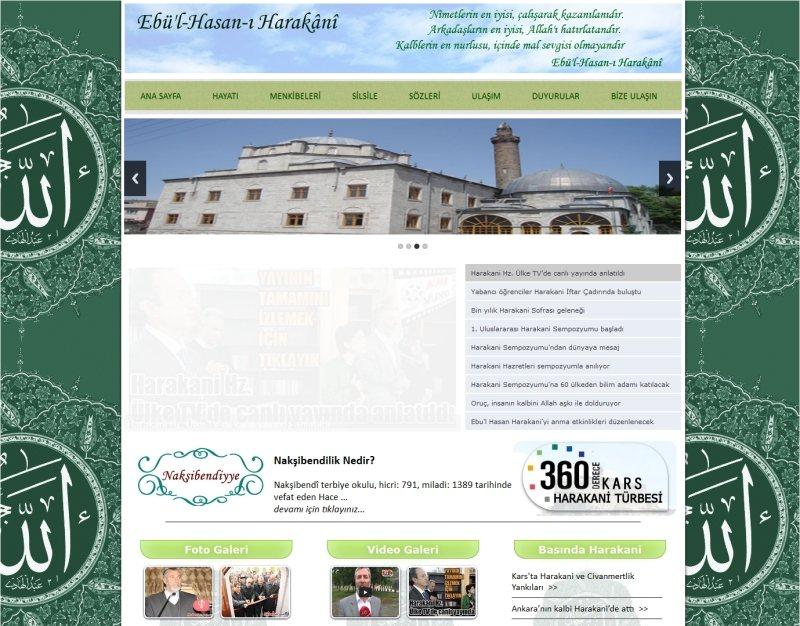 Ebu'l Hasan Harakani Hazretleri Web Sitesi