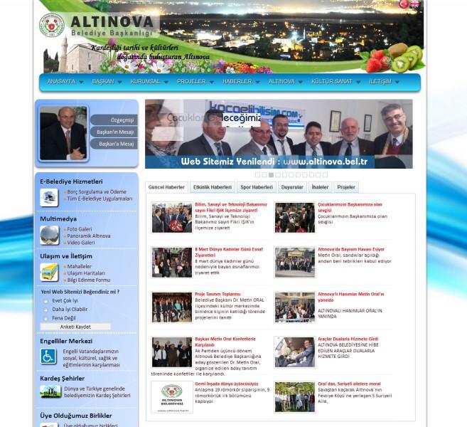 Altınova Belediyesi Web Sitesi