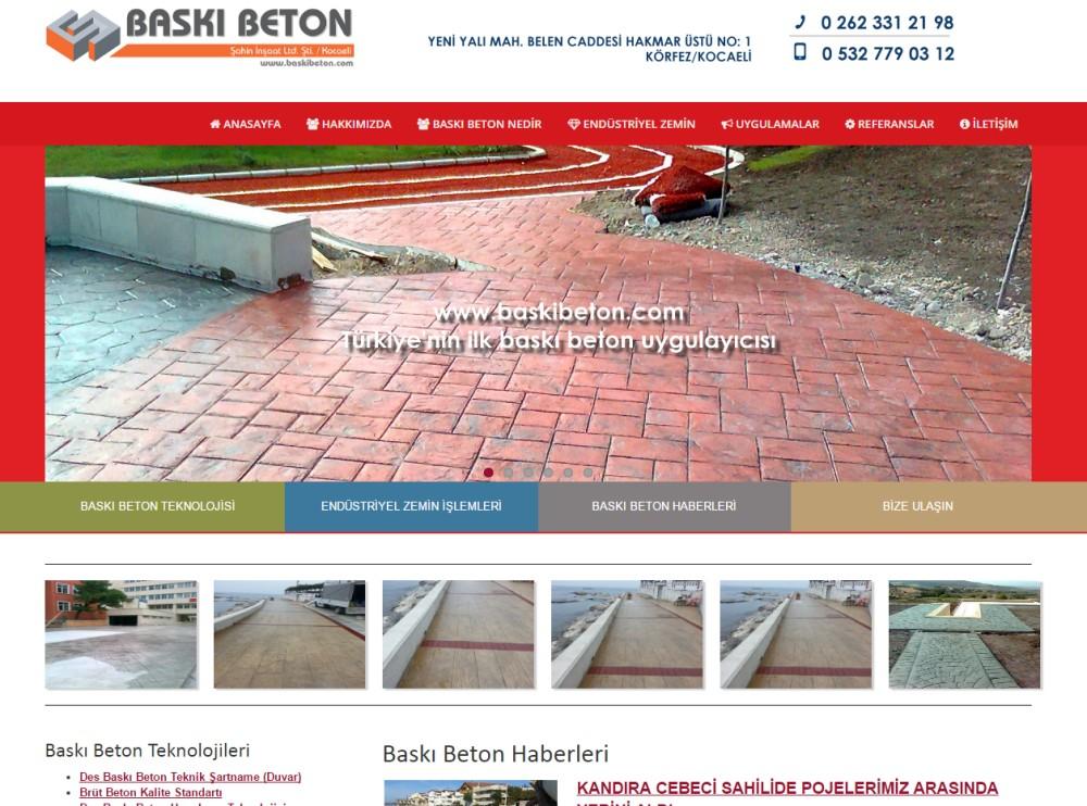 Baskı Beton Sitesi YEnilendi